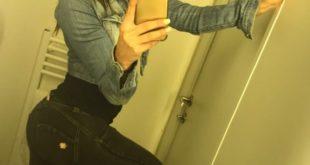 salope en jeans moulant